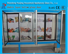 Saving energy and space supermarket refrigerator glass door with sealing strip outer fame