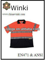 High Visibilty Work Wear Reflective Polo shirt and Apparel