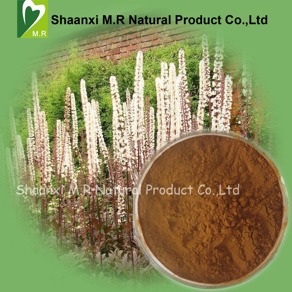 Factory Price Bulk Black Cohosh Extract Triterpenoid Saponins 2.5%, 5% Powder