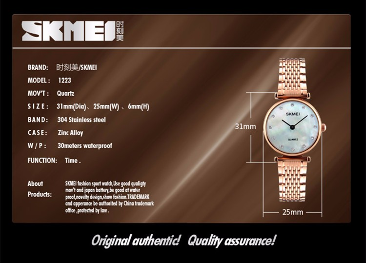brand own logo lady wristwatch 3atm water resistant quartz watch,japan movt quartz watch stainless steel back woman watch