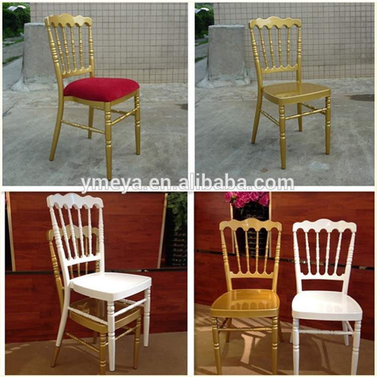 Wholesale Aluminum Napoleon Chairs Stackable Hotel Used