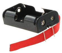 "2 ""aa"" battery holder with PCB pins and ribbon BH321P-R"