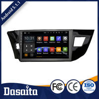 10.2 Inch Car android 5.1.1 Operating System gps multimedia navigator dvd price for Toyota corolla 2014