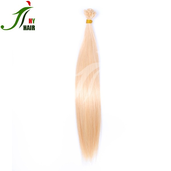 Wholesale 8A Grade Silky Straight #613 Pre-Bonded U Tip Hair Extensions