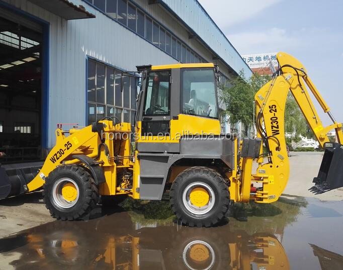High efficiency portable wheel backhoe loader ,Mucking loader