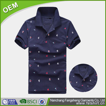 Decorative design cotton 200gsm mens dry fit polo shirt