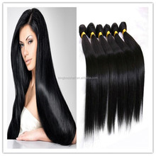 black color top quality long hair 20inch remy hair human hair weft