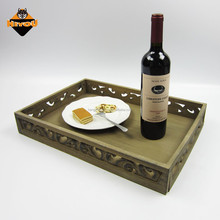 Lacquer wood high quality best price natural color MDF tray