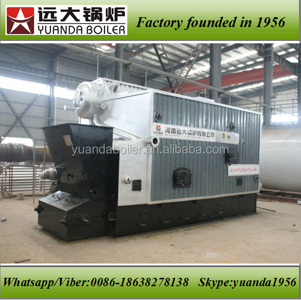 Industrial automatic steam boiler run with empty palm fruit bunches,oil palm empty fruit bunches boiler