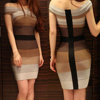 Short sleeve night dress modern bodycon cut out bandage dress wholesale