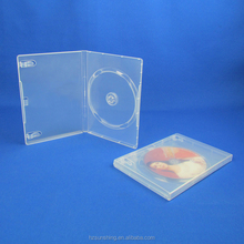 Standard raw material plastic cd dvd box dvd case size inches