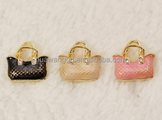 Wholesale Alibaba Zinc Alloy Handbag On Charms Metal charms Fits Link Chains