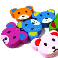 Fashion Bear Head Animal Wooden Beads Mixed Color