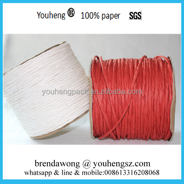 Factory Price Colored craft Paper twine rope