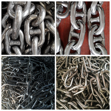 stainless steel 316 or ss316L material anchor chain stud link or open link chain