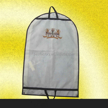 garment packaging bag, pvc wedding dress cover, travelling cloth suit bag