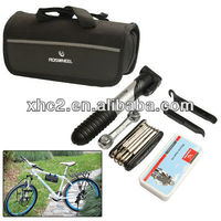 Bike Bicycle Repair Air Pump + Wrench + Tire Spoon + Screwdriver + More Tools Set