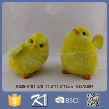 Custom lovely resin rooster with fur figurine for souvenirs