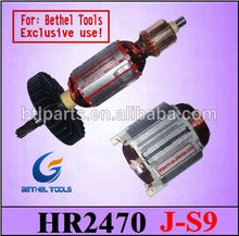 armature makita for power tools HR2450/ HR2470/ HM0810/ HR1830 & BOSCH 2-24/2-26/2-22/2-20/2-28/11E/11DE BOSCH Rotor & Stator