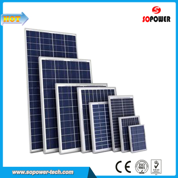 100W 18V Polycrystalline Solar Photovoltaic Panel for House