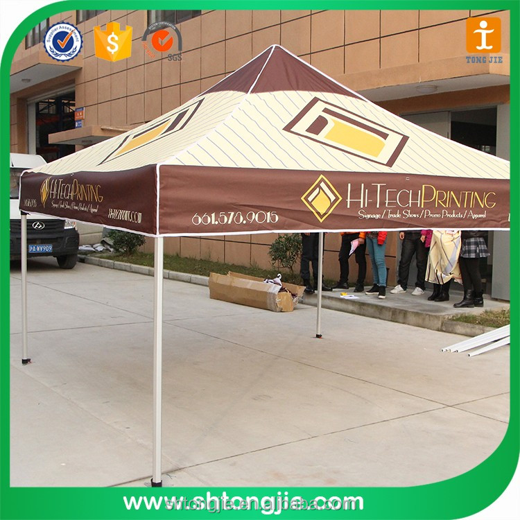 Portable promotional display outdoor event canvas pop up tent
