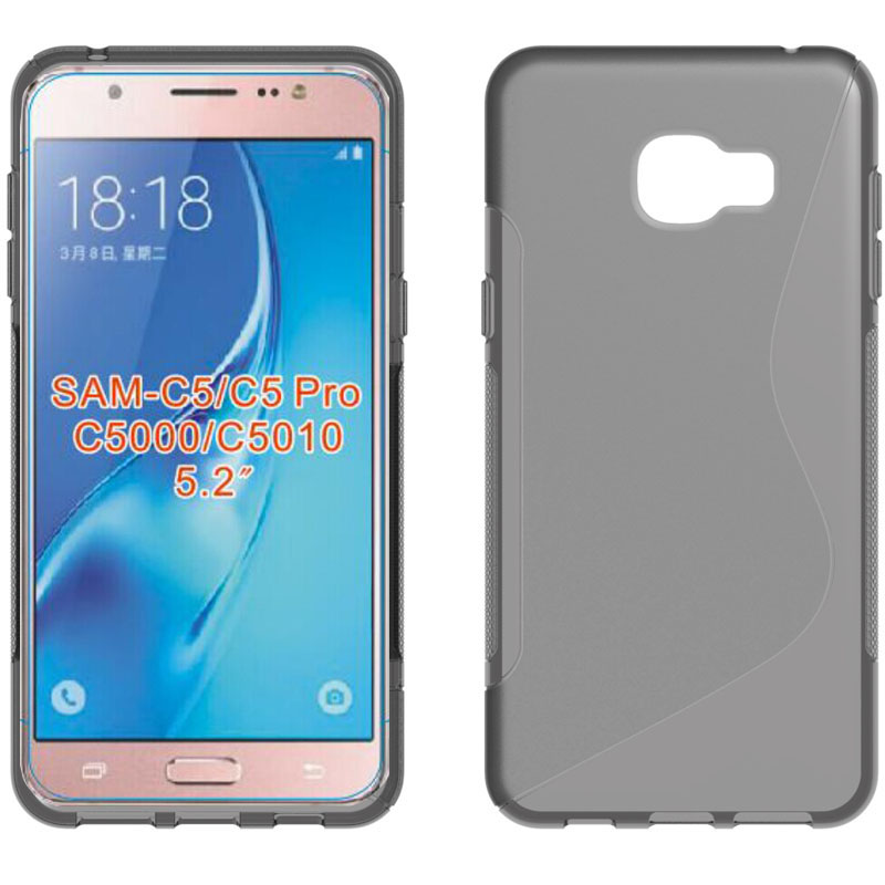 S Line TPU Soft Skin Gel Case Back Cover for samsung galaxy c5 pro silicone Mobile Phone case for c5 pro