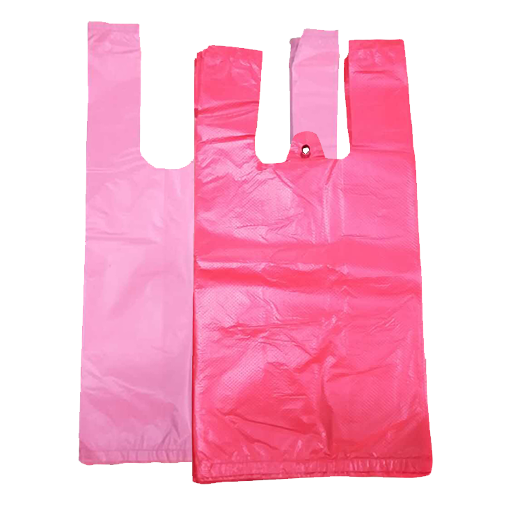 New trend product wholesale custom colored plastic shopping bag carrying with handle