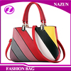 2016 new designer wholesale fashion solid color mini top handle colorful patchwork PU long usable handbags & messenger bags