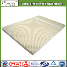 New fashionable anti-mite natural latex mattress pad with negative ions and far infrared