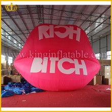 New Design Attractive Giant Inflatable Lip, Pink Inflatable Ladies Mouth Model