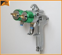 2015 chrome paint 93 cordless tool double nozzle spray gun