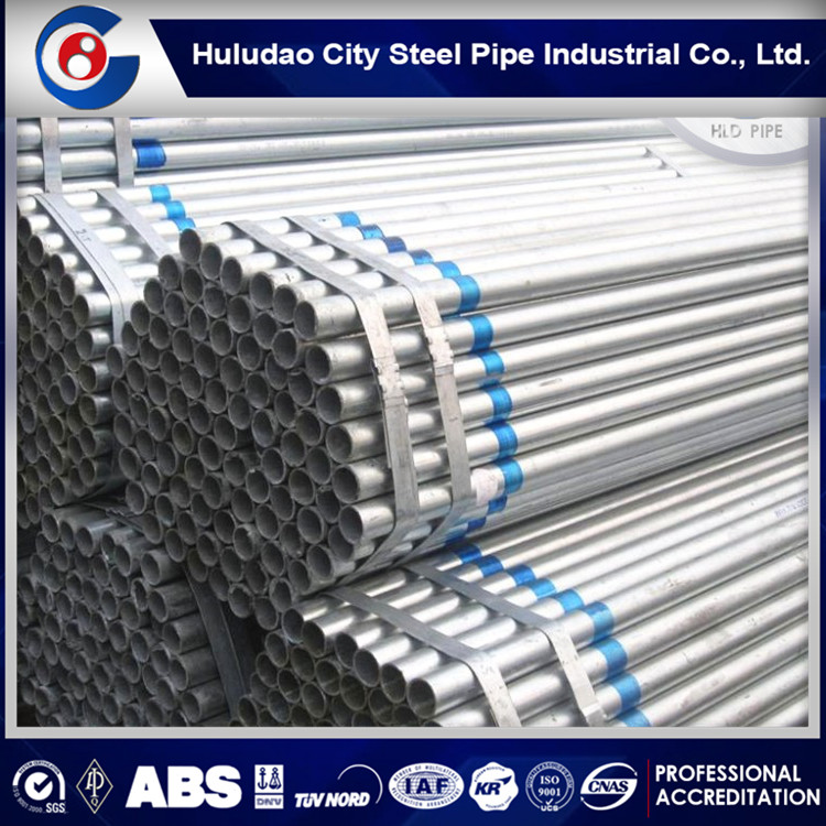 Professional natural gas galvanized pipe,gi hot galvanized tube