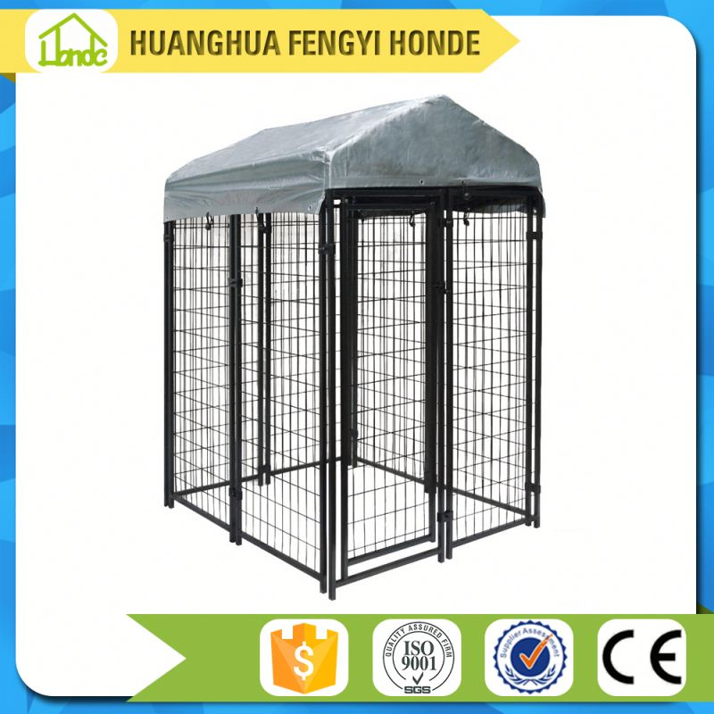 large outdoor galvanized chain link metal dog fence