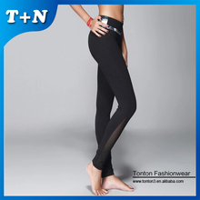 Custome newest design unique and high waisted black slim leggings for women
