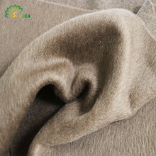 top quality high-end black 21%wool 70%alpaca 4.5%polyester 4.5%modal single sided mohair fleece wool fabric for winter