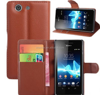 for Sony Z3 Phone Leather Case Wallet Phone Case, for Sony Z3 Flip and Fold Case