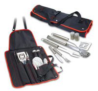 Stainless Steel Barbecue Tools Apron bbq set with Soft Plastic Tool Handle