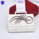 Lebanon swim bike run triathlon silver award sport medals with hollow out design
