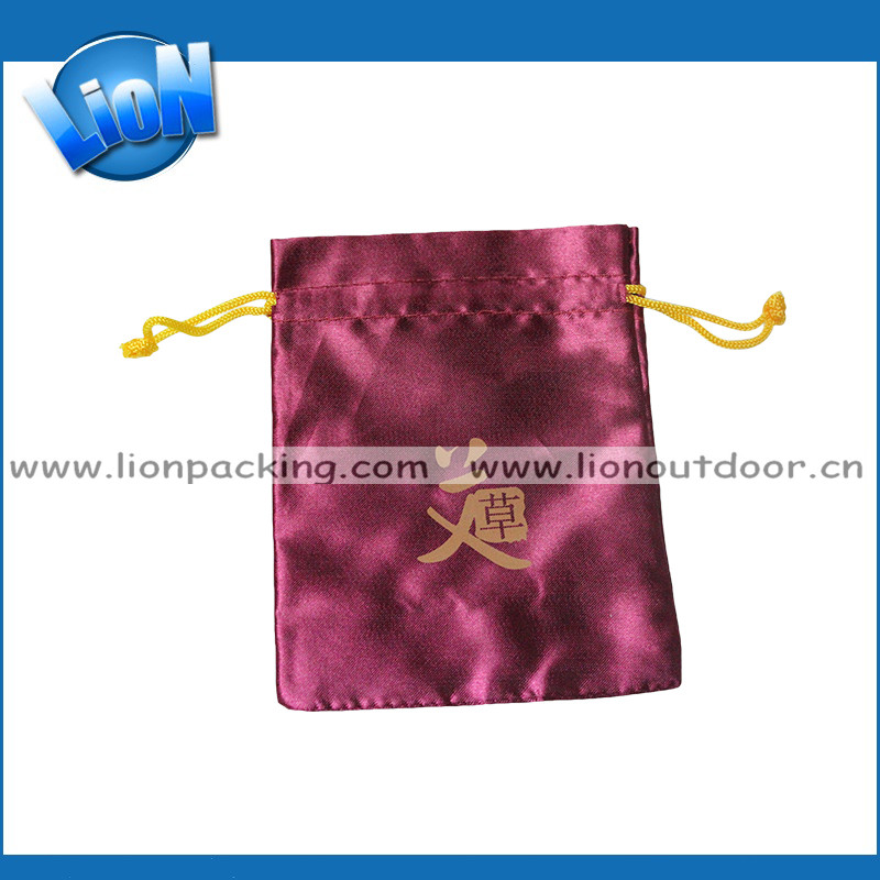 Wholesale Custom Packaging Large Pouch Extension Hair Satin Bags