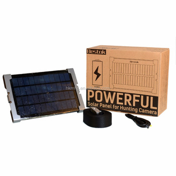 Bestok solar panel for outdoors electranics useful power bank for hunting/wildlife/scouting cameras