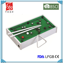 Mini table game pool game tabel billiard game for four player with aluminum frame