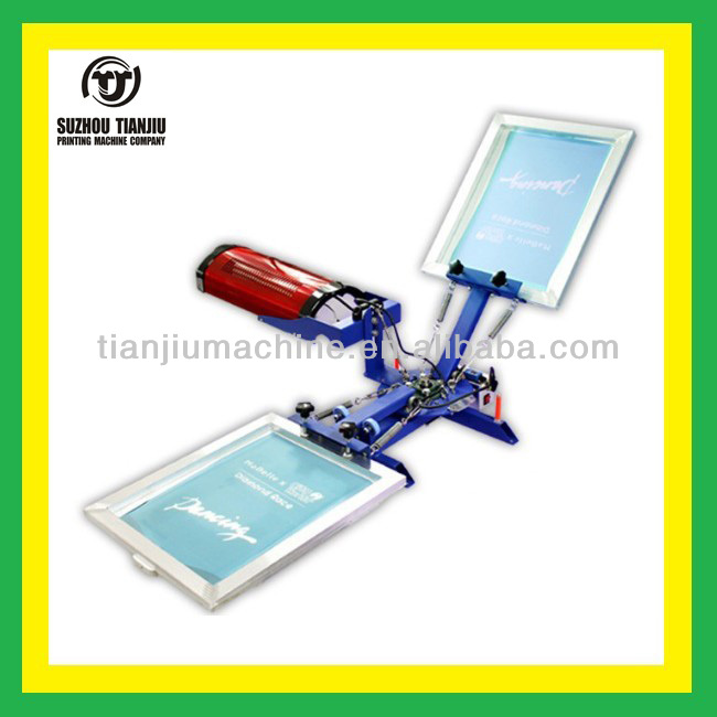 Two colors screen printing table with dryer