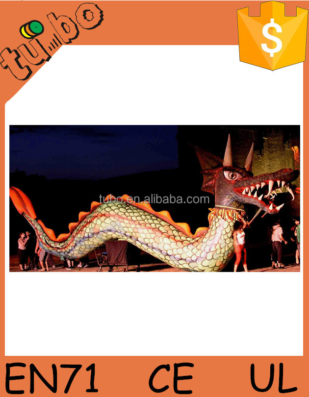 PVC giant inflatable helium dragon for advertising