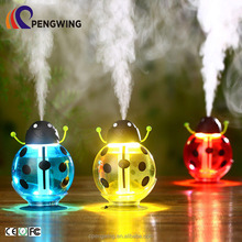 260ML Cute Beetle-shaped Air innovations Ultrasonic humidifier 360 Degree Rotating Air Freshener Humidifier