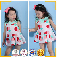 Wholesale baby girls dress with polka dots Smocked dresses for toddle girls