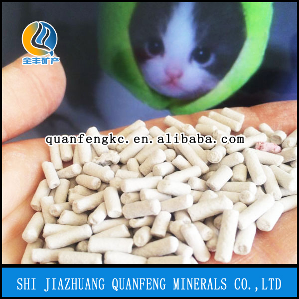 Pine wood pellet cat litter