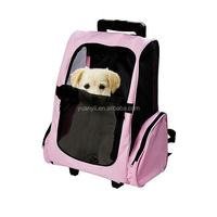 Wholesale pet luggage for dogs pet backpack carrier for cat with wheels