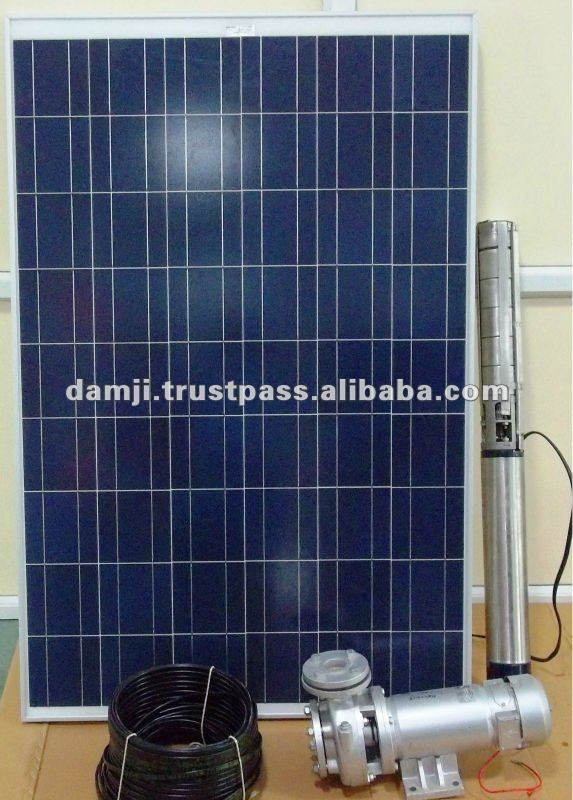 solar ac/dc water pumping system