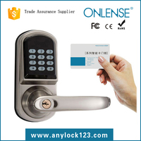 One card pass cipher handle door lock for apartment