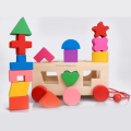 Diy Wood Children Blocks Puzzle Shape Sorter Block Cube